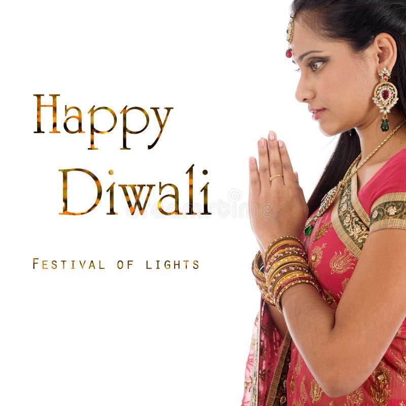 Comemorando o festival de Diwali imagem de stock royalty free