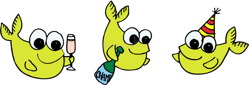 Comemorando peixes ilustração stock