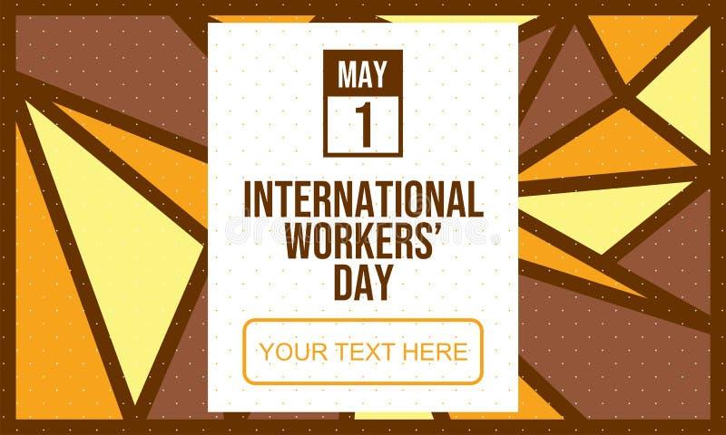 Comemore o dia dos trabalhadores internacionais - vetor ilustração do vetor