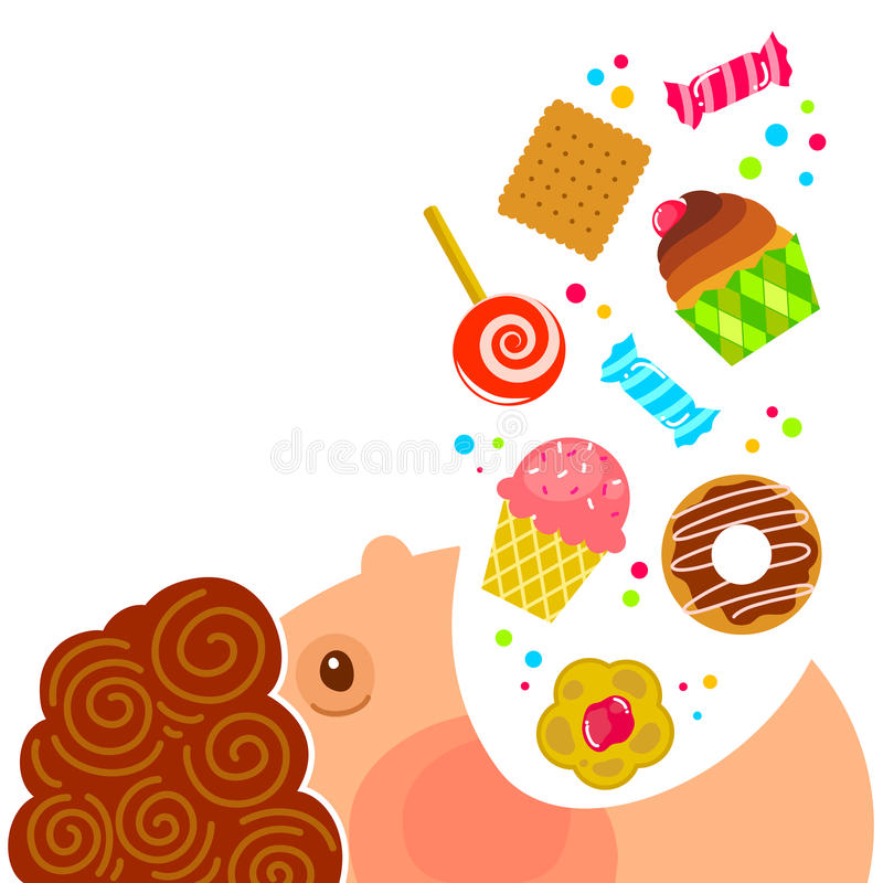 Comendo doces ilustração stock