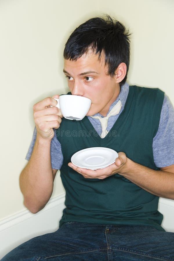 Comendo o café fotos de stock royalty free