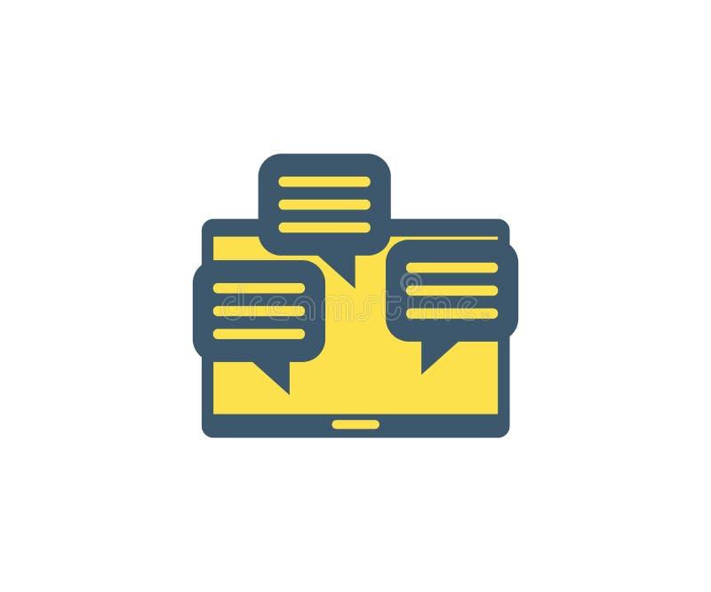Comenta el icono Ejemplo del vector en estilo minimalista plano ilustración del vector