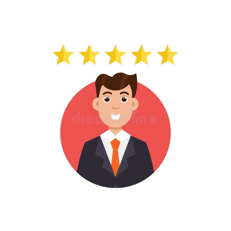 Comentario del cliente Concepto de la retroalimentación positiva libre illustration