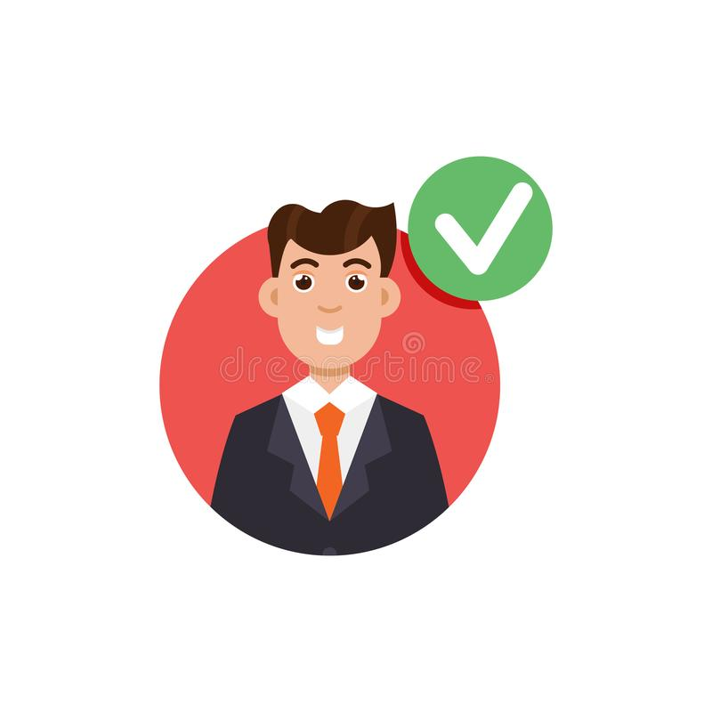 Comentario del cliente Concepto de la retroalimentación positiva ilustración del vector