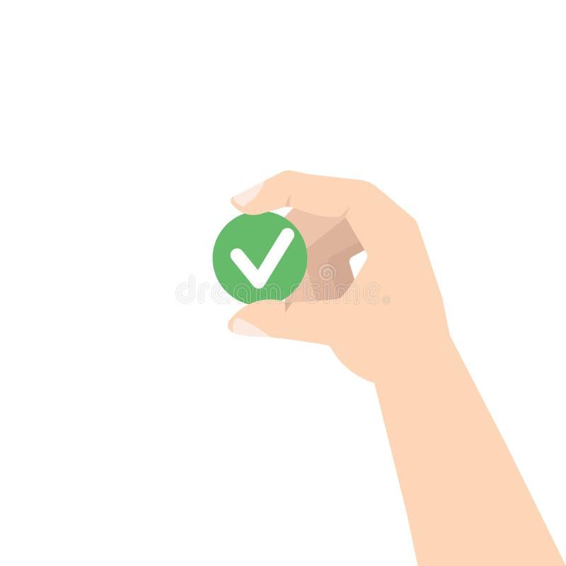 Comentario del cliente Concepto de la retroalimentación positiva stock de ilustración