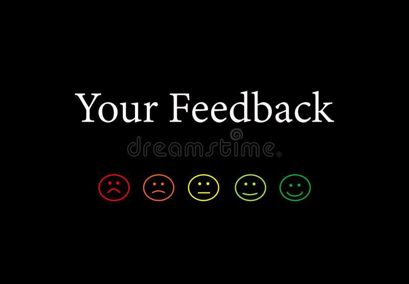 Comentarios de clientes del servicio de calidad del negocio fotografía de archivo libre de regalías