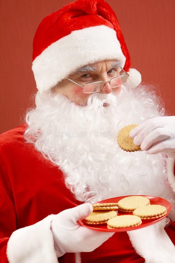 Comer de Santa fotos de stock