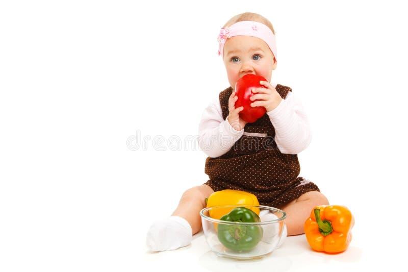Download Comer do bebê imagem de stock. Imagem de saúde, dieta - 12805417