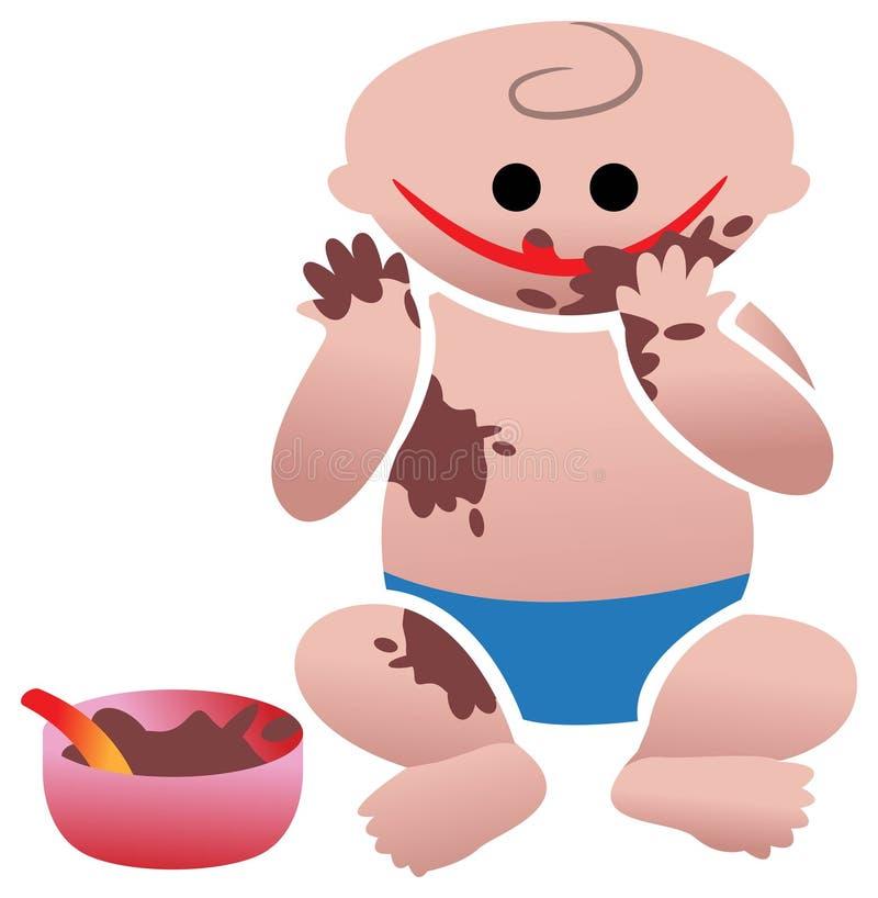 Comer engraçado ilustração do vetor