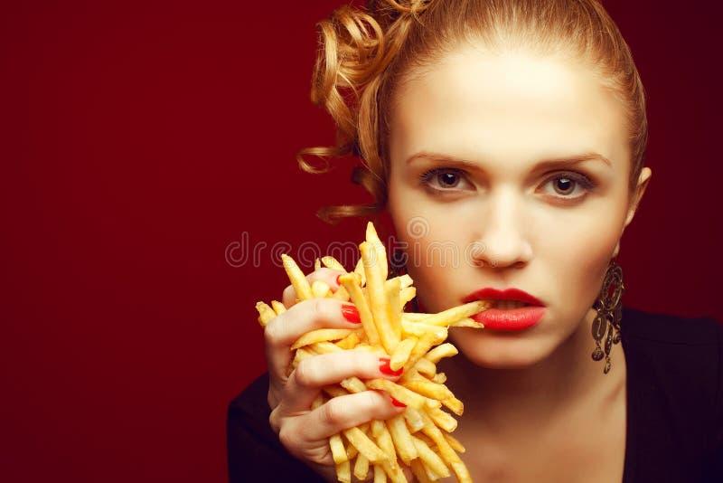 Comer insalubre Conceito da comida lixo foto de stock