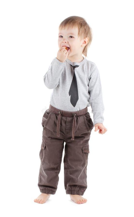 Comer pequeno do bebê foto de stock royalty free
