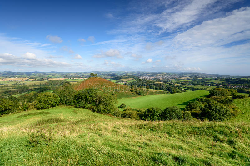 Comer`s Hill in Dorset. Beautiful Dorset countryside looking out over Colmer`s Hill at Symondsbury near Bridport royalty free stock photos