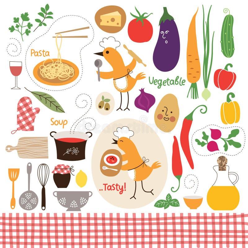 Comer saudável ilustração stock