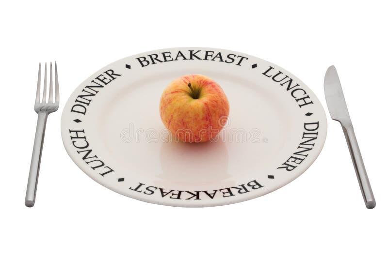 Comer saudável. Com trajeto de grampeamento. imagens de stock royalty free
