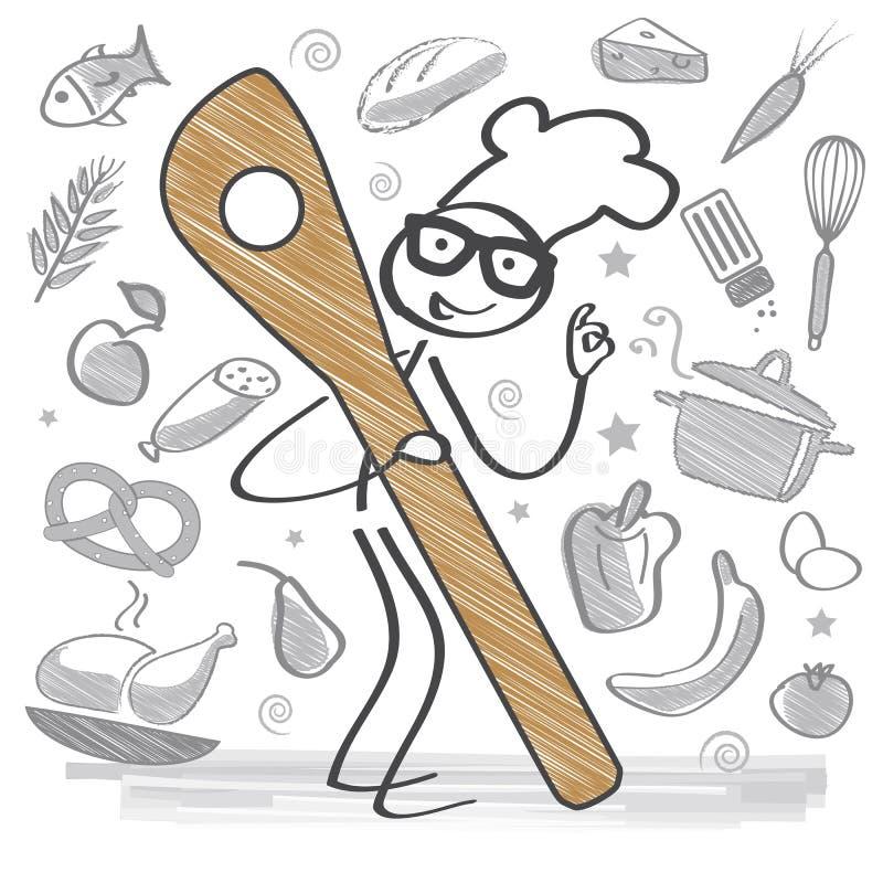 Comer saudável de Foodhealthy ilustração do vetor