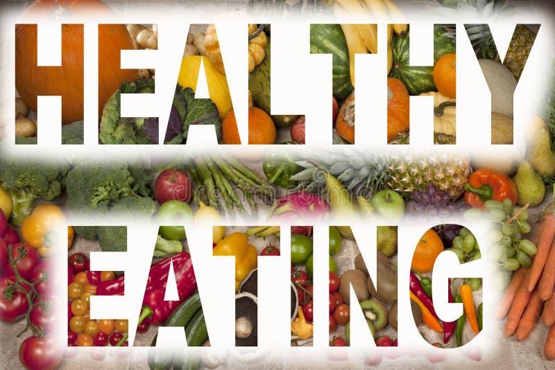 Comer saudável - fruta e verdura fotografia de stock royalty free