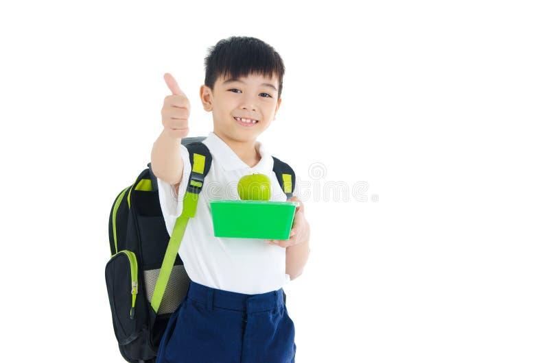 Comer saudável para o conceito da criança da escola fotos de stock
