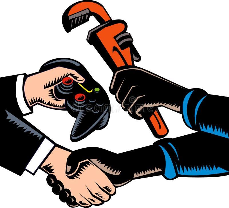 Comerciales bienes y servicios del trueque libre illustration