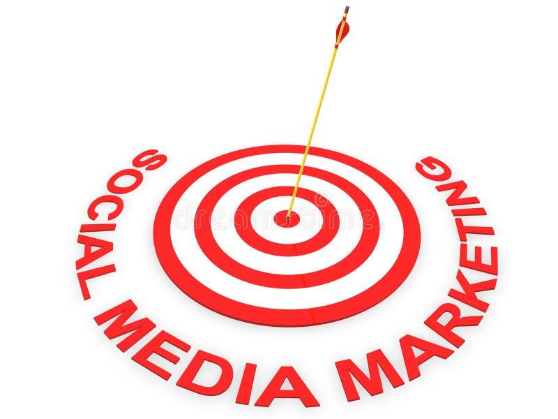 Comercialización social de los media stock de ilustración