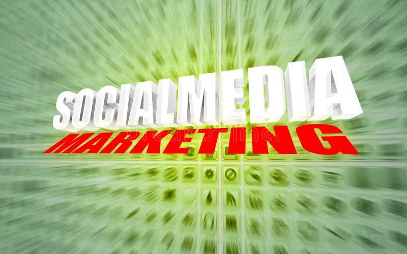 Comercialización social de los media libre illustration