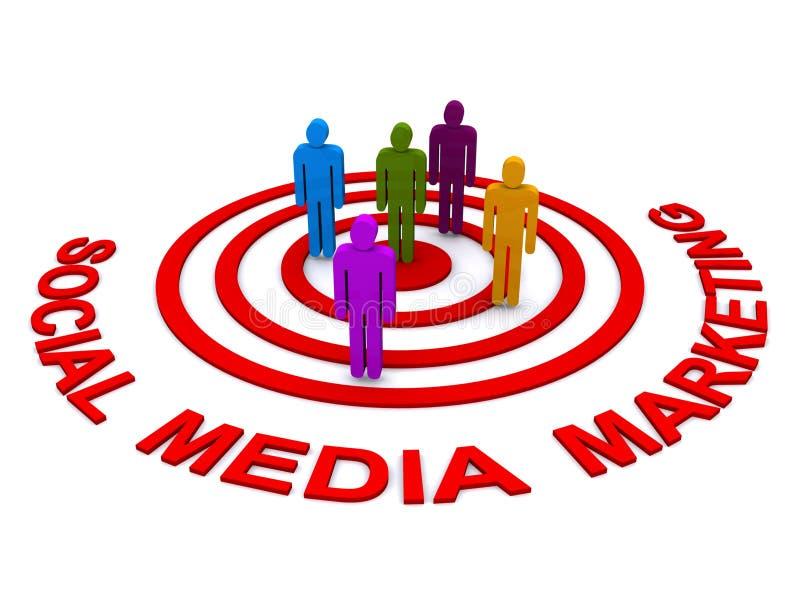 Comercialización social de los media ilustración del vector