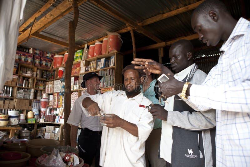 Comerciante árabe, Bor Sudán imagen de archivo