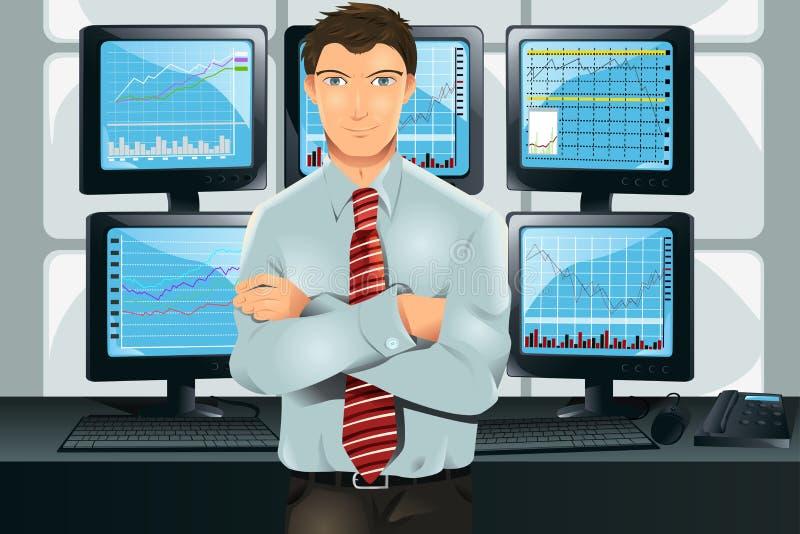 Comerciante común stock de ilustración