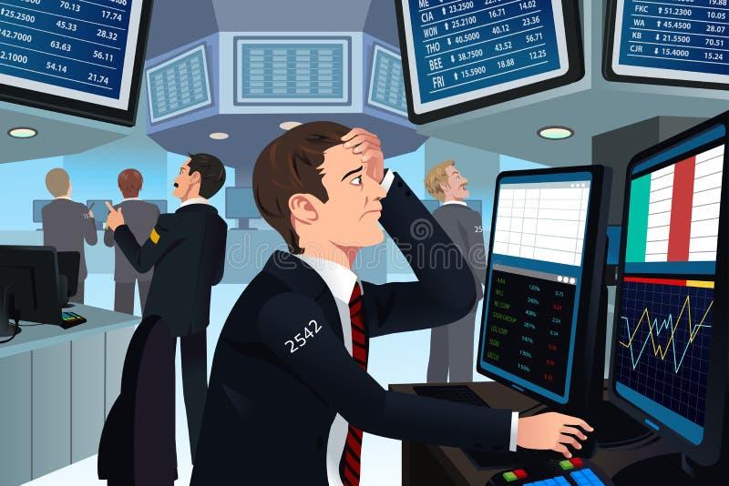 Comerciante común en la tensión libre illustration