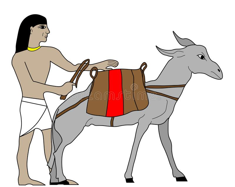 Comerciante de Egipto antiguo stock de ilustración