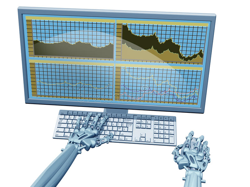 Comerciante de la robusteza ilustración del vector