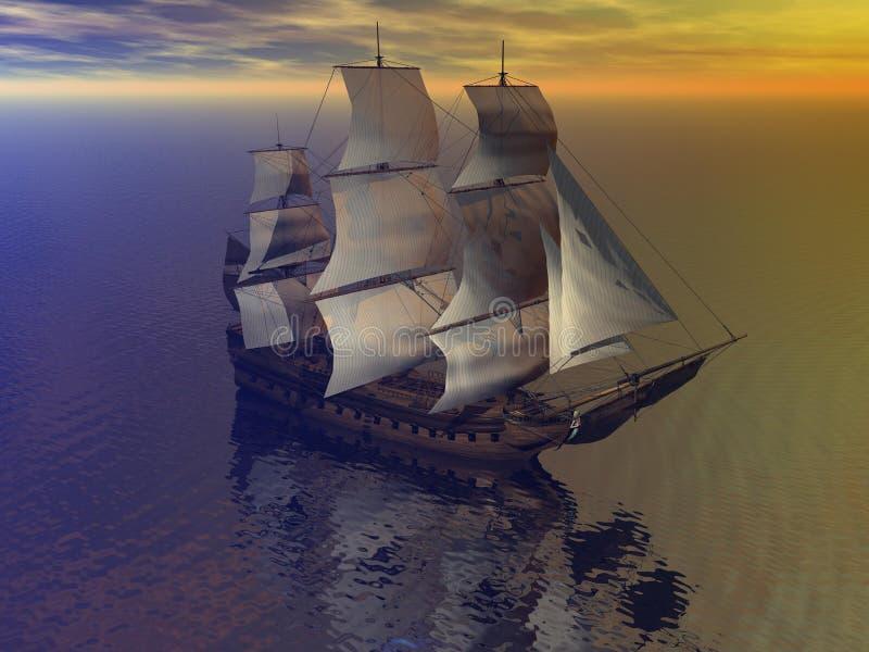 Comerciante del barco libre illustration