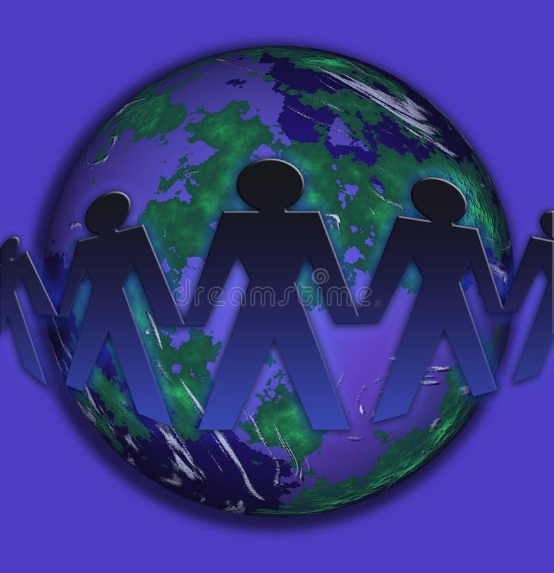 Comercio conceptual del mundo stock de ilustración
