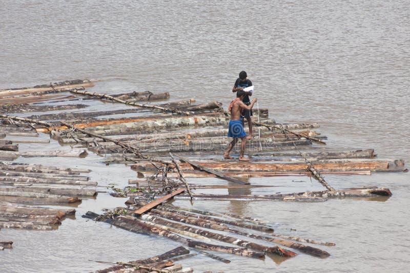 Comercio de la madera en el Amazonas, el Brasil imágenes de archivo libres de regalías