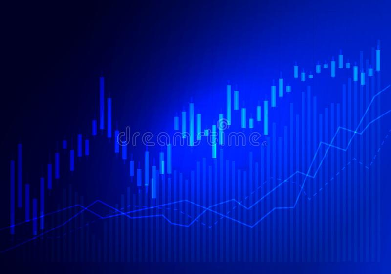 Comercio del mercado de acción del gráfico Mire al trasluz la carta del gr?fico del palillo del comercio de la inversi?n del merc libre illustration