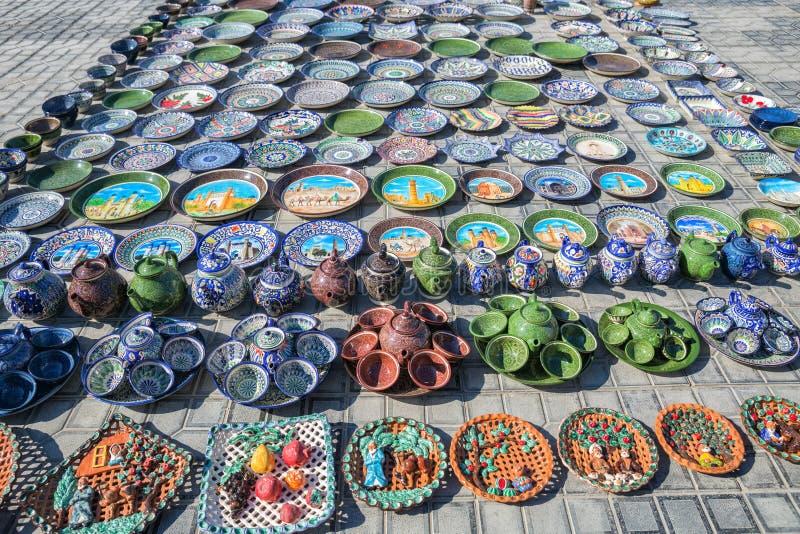 Comercio del recuerdo en Bukhara imagen de archivo