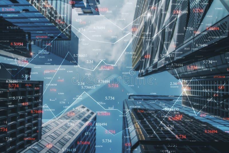 Comercio e invertir concepto stock de ilustración