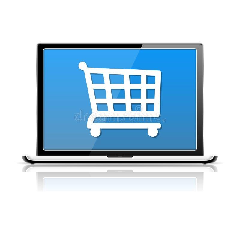 Comercio electrónico ilustración del vector