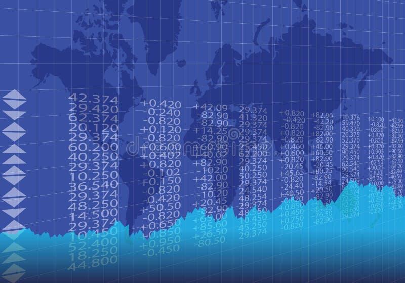 Comercio global en color azul ilustración del vector