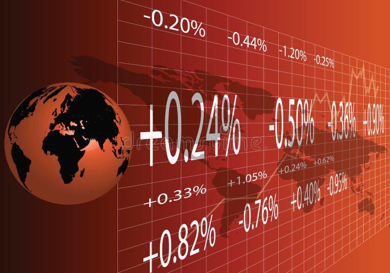 Comercio global en naranja stock de ilustración