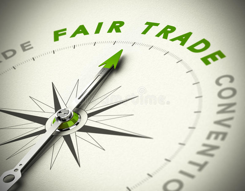 Comercio justo que consulta stock de ilustración
