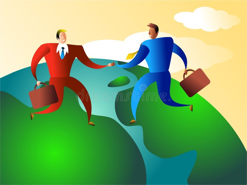 Comercio mundial libre illustration