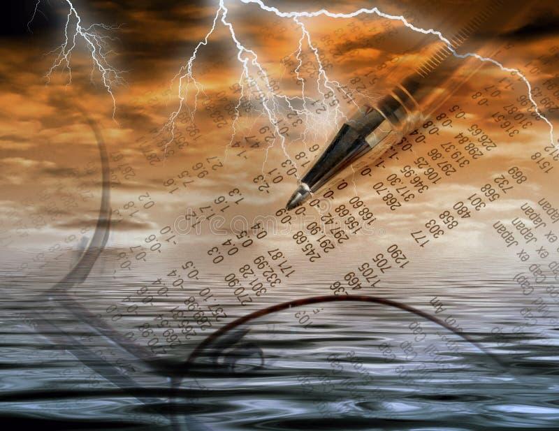 Comercio tempestuoso stock de ilustración