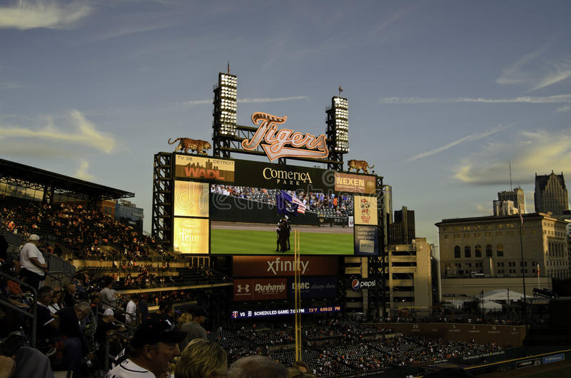 Comerica ball field stock images