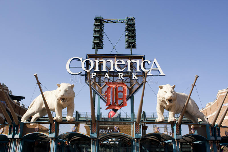 Comerica Park, Detroit stock photography