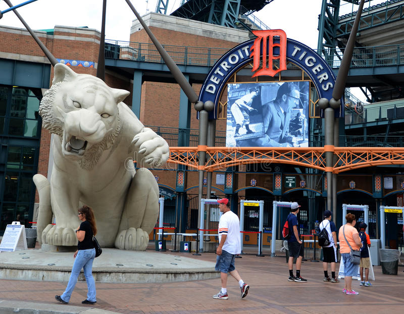 Comerica Park front entrance royalty free stock photo
