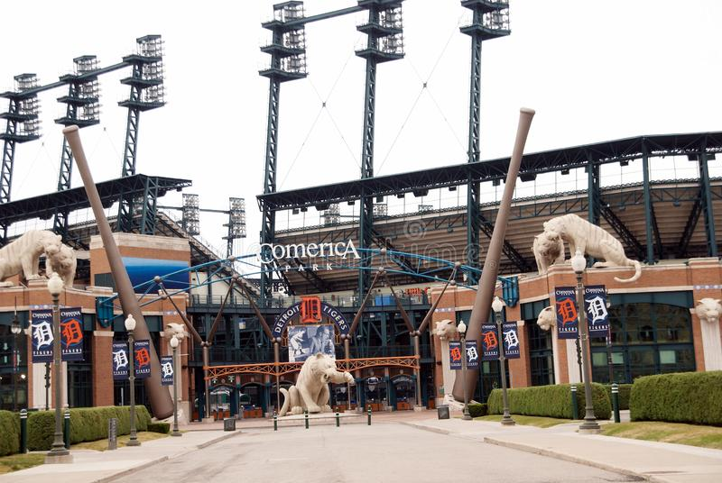 Comerica Park Home of the Detroit Tigers in detroit Michigan stock images