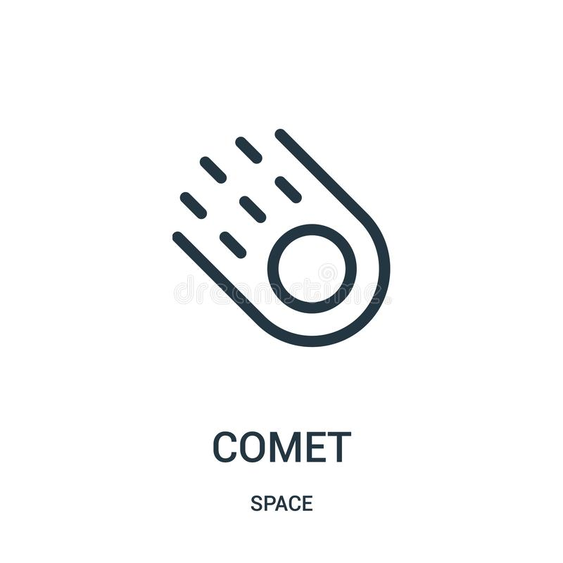 comet icon vector from space collection. Thin line comet outline icon vector illustration royalty free illustration