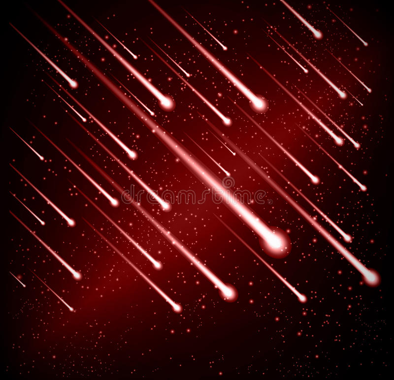 Download Comet Meteor Shower Background Stock Vector - Image: 25526704