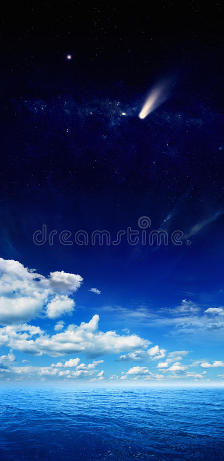 Download Comet and sea stock photo. Image of dark, mysterious - 37912890