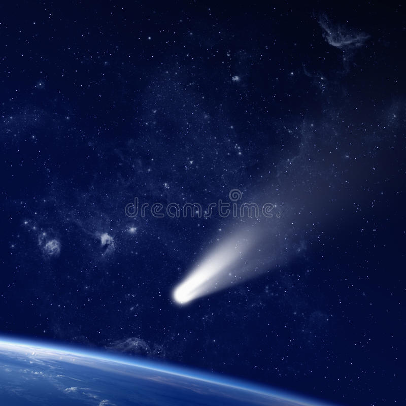 Comet in space royalty free stock photo